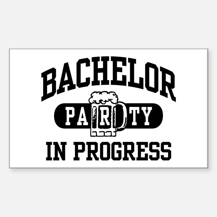 Bachelor Party Sticker (Rectangle)