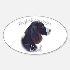 English Springer Dad2 Oval Decal