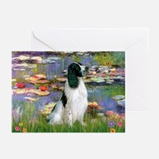 Monet's Lilies & English Spri Greeting Cards (Pack