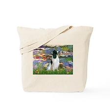 Monet's Lilies & English Spri Tote Bag