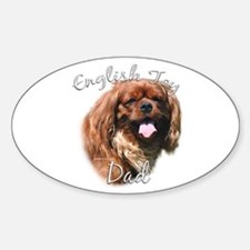 English Toy Dad2 Oval Decal