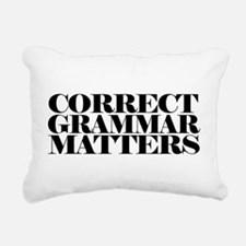 Correct Grammar Matters Rectangular Canvas Pillow
