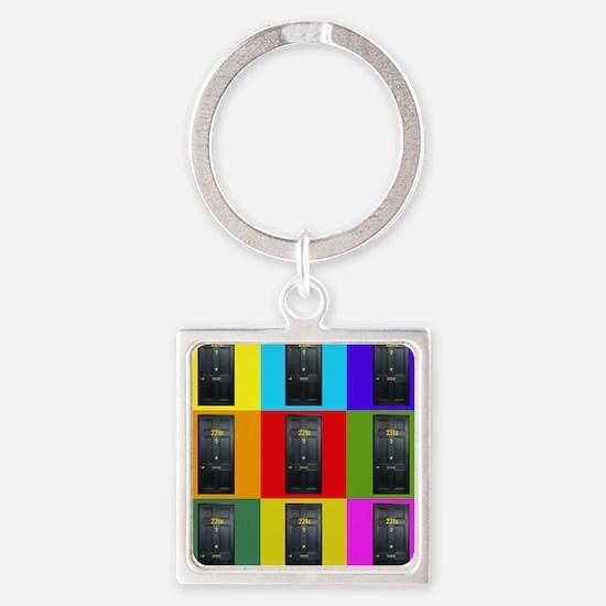 221B Door Color Block Keychains