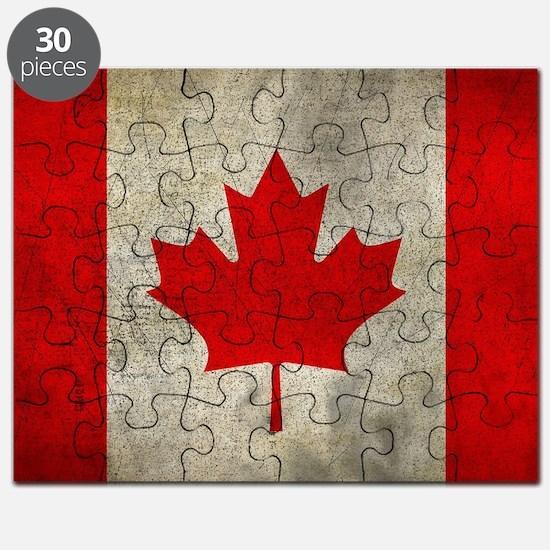 Unique Canada flag Puzzle
