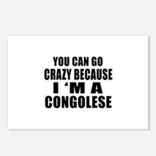 You Can Go Crazy Because Postcards (Package of 8)