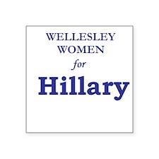 "Funny Female president Square Sticker 3"" x 3"""