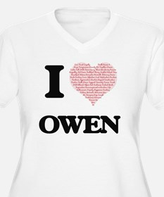 I Love Owen Plus Size T-Shirt