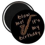 birthday horn blow me Magnet