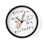 birthday horn blow me Wall Clock