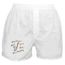 birthday horn blow me Boxer Shorts