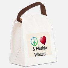 Peace Love Florida Whites Canvas Lunch Bag