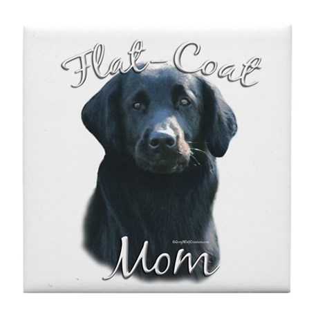 Flat-Coat Mom2 Tile Coaster
