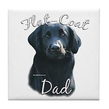 Flat-Coat Dad2 Tile Coaster