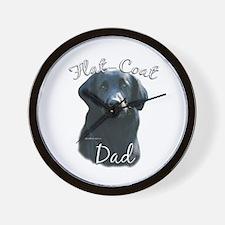 Flat-Coat Dad2 Wall Clock