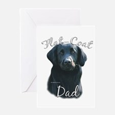 Flat-Coat Dad2 Greeting Card