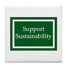 Support Sustainability Tile Coaster