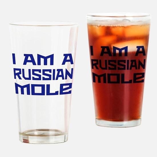 Russian Mole Drinking Glass
