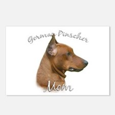 Pinscher Mom2 Postcards (Package of 8)