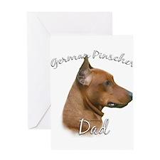 Pinscher Dad2 Greeting Card
