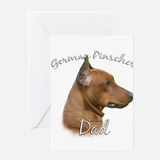 Pinscher Dad2 Greeting Card