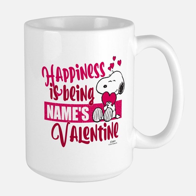 Snoopy Happiness is Being - Personalize Mug