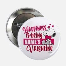 "Snoopy Happiness is Being - Personali 2.25"" Button"