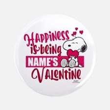 Snoopy Happiness is Being - Personalized Button