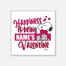 "Snoopy Happiness is Being - Square Sticker 3"" x 3"""