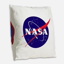 Space Flight Memorial Burlap Throw Pillow