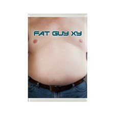 FAT GUY XY Rectangle Magnet