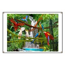 Funny Macaw Banner