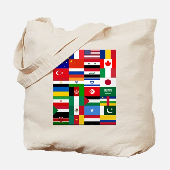 Country Flags Tote Bag
