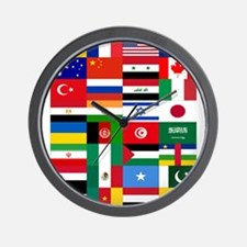 Country Flags Wall Clock