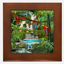 Cute Jungle Framed Tile