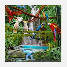 Cute Parrots Tile Coaster