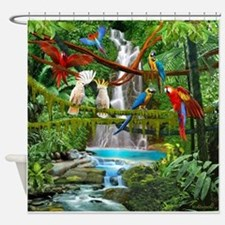 Cute Parrot art Shower Curtain