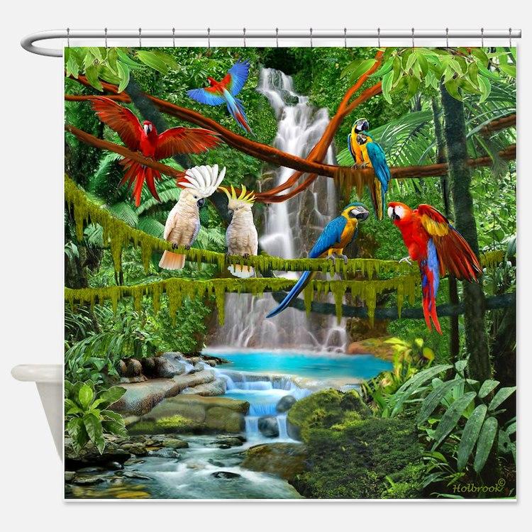 Cute Macaw Shower Curtain