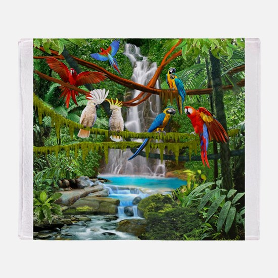 Cute Waterfalls Throw Blanket