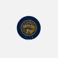 Nebraska State Flag VINTAGE Mini Button