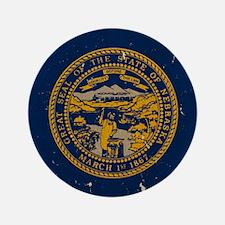 "Nebraska State Flag VINTAGE 3.5"" Button"