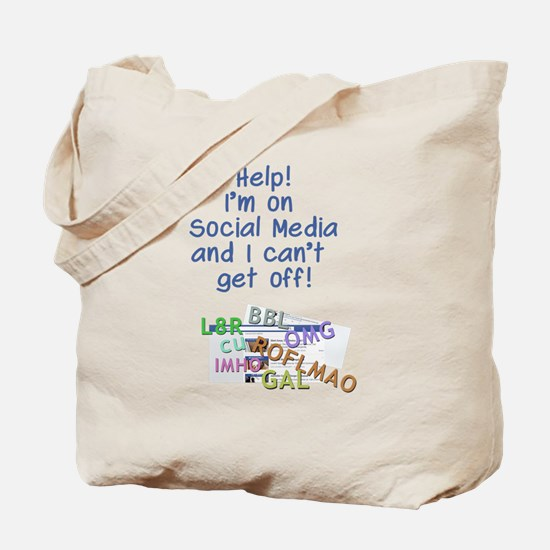 can't get off Facebook Tote Bag