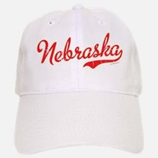 Nebraska Script Font Vintage Baseball Baseball Baseball Cap