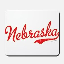 Nebraska Script Font Vintage Mousepad