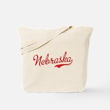 Nebraska Script Font Vintage Tote Bag