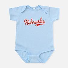Nebraska Script Font Vintage Body Suit