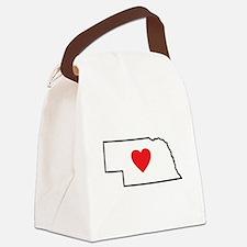 I Love Nebraska Canvas Lunch Bag