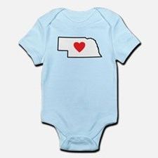 I Love Nebraska Infant Bodysuit