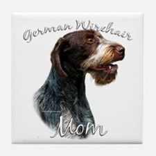Wirehaired Mom2 Tile Coaster