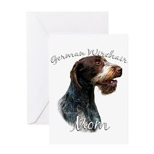 Wirehaired Mom2 Greeting Card