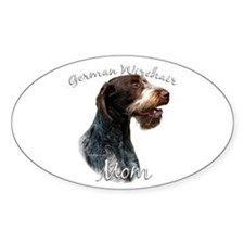 Wirehaired Mom2 Oval Decal